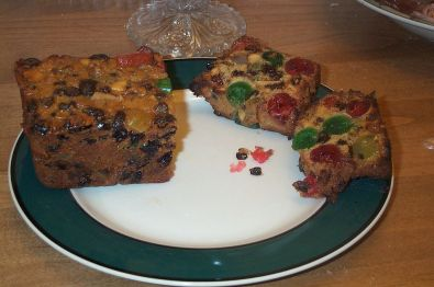 American fruitcakes. Colourful, huh? Certainly festive.