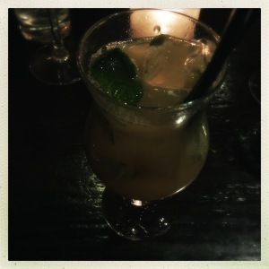 A mocktail - afraid I cannot remember its name..