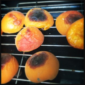 Stone fruit is one of the worst offenders for being nothing more than edible billiard balls even in season. The grill works its magic and will make it taste as it should. Peaches and nectarines are simply wonderful thrown on the barbecue.