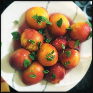 Alternatively, poaching can also restore the taste of summer to peaches - here are Nigella Lawson's divine Mint Julep Peaches.
